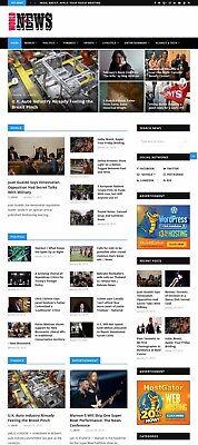 Automated Wordpress NEWS Website - Turnkey Profitable Site