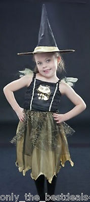 Alter 4-6 Mädchen Kostüm Kinder Halloween Katze Hexe Prinzessin + - Hexen Kostüm Kinder Katze