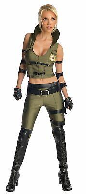Blade Kostüm Damenkostüm sexy Ninja Kämpferin Gr. XS - L (Sonya Blade Kostüme)