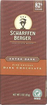 Cacao Extra Dark Chocolate - Chocolate Bar - Dark Chocolate - 82 Percent Cacao - Extra Dark (12 - 3 OZ)
