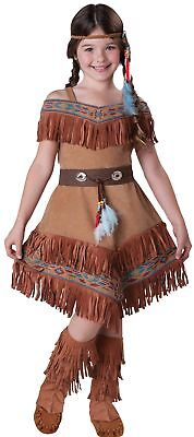 Indian Maiden Pocahontas Sacagawea Kinder Kostüm Mädchen Cherokee Native