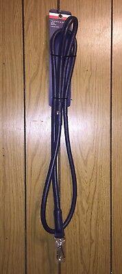 NWT Tommy Hilfiger Leather Tubular Dog Leash - Navy