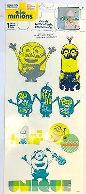 Minion Room Decor (6 Despicable Me Minions Movie Wall Stickers Repostionable Decal Room Party)