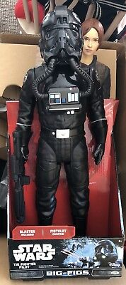 """Star Wars 18"""" Elite Forces, Rogue One Tie Fighter Pilot Big Fig Blaster Included"""