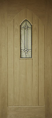 Oak External Front Door Westminster / Gothic 78x33 (1981x838x45mm)