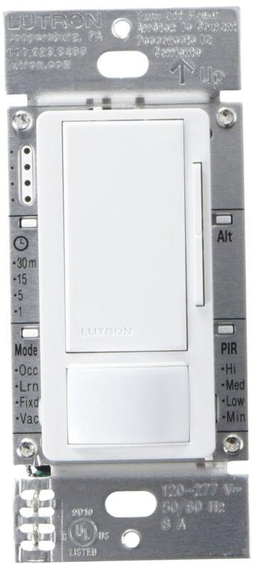 Lutron MS-Z101-WH Maestro 0-10V/120-277V Dimmer & Occupancy/Vacancy Single Pole