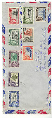 Gilbert  &  Ellice 61-69 on airmail  cover  to   US          SR0524
