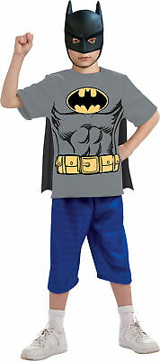 Batman Shirt Mask Cape Kit Child Boys Costume Superheroes Theme Party Halloween ()