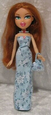 "Made to fit 9½"" BRATZ #07 Dress, Purse & Necklace Set, Handmade Doll Clothes"