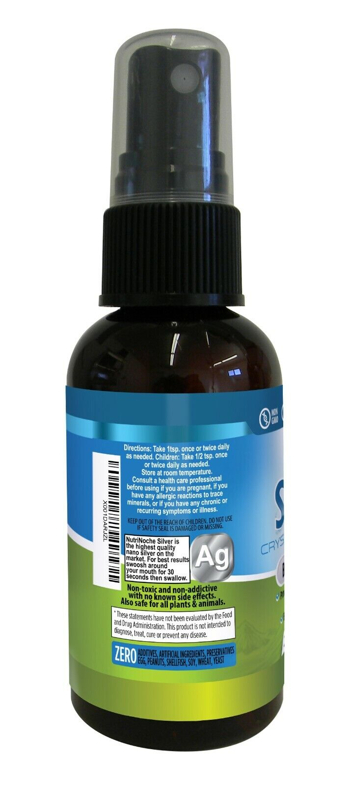 NutriNoche Colloidal Silver Spray Supplement - The BEST Silver - 30 PPM 2 Ounces 1