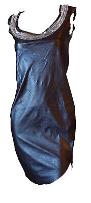 Women's Dress Suit Elegant Tight Vilpelle Split Side Necklace Neck Tag S