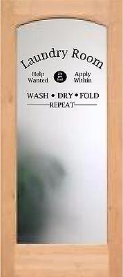Laundry Room door decal wash fold dry repeat help wanted vinyl words sayings art - Laundry Room Doors