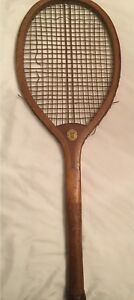 Antique Convex Wedge Tennis Racket