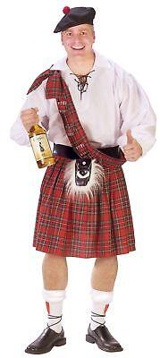 t Kariert Deluxe Seidig Schottland Schottisch Kilt (Schottland Halloween)