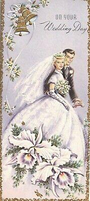Vintage Greeting Card Sunshine Wedding Congratulations Best of Good