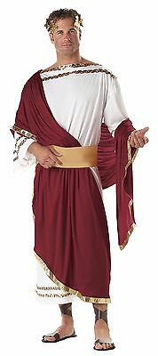 Caesar Roman Emperor Spartan 300 Greek Adult Toga Costume - Greek Costume Men