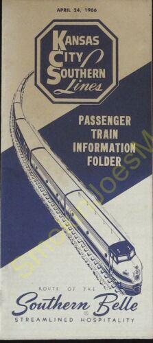 Vintage Train Schedules Kansas City Southern Lines Information April 24 1966
