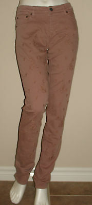Odd Molly Cheer Embroidered Jeans Pants Size 1