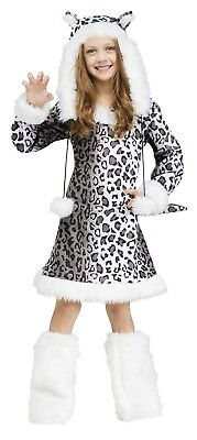 Fun World Snow Leopard Furry Animals Childrens Kids Halloween Costume 121142 ()