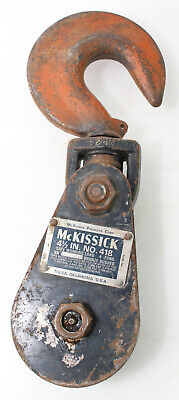 Mckissick 4ton Snatch Block With Hook 418 4 Ton Pulley Block 4-12 Sheave Block
