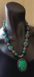 Stunning Green & Purple Glass Necklace Coomera Gold Coast North Preview