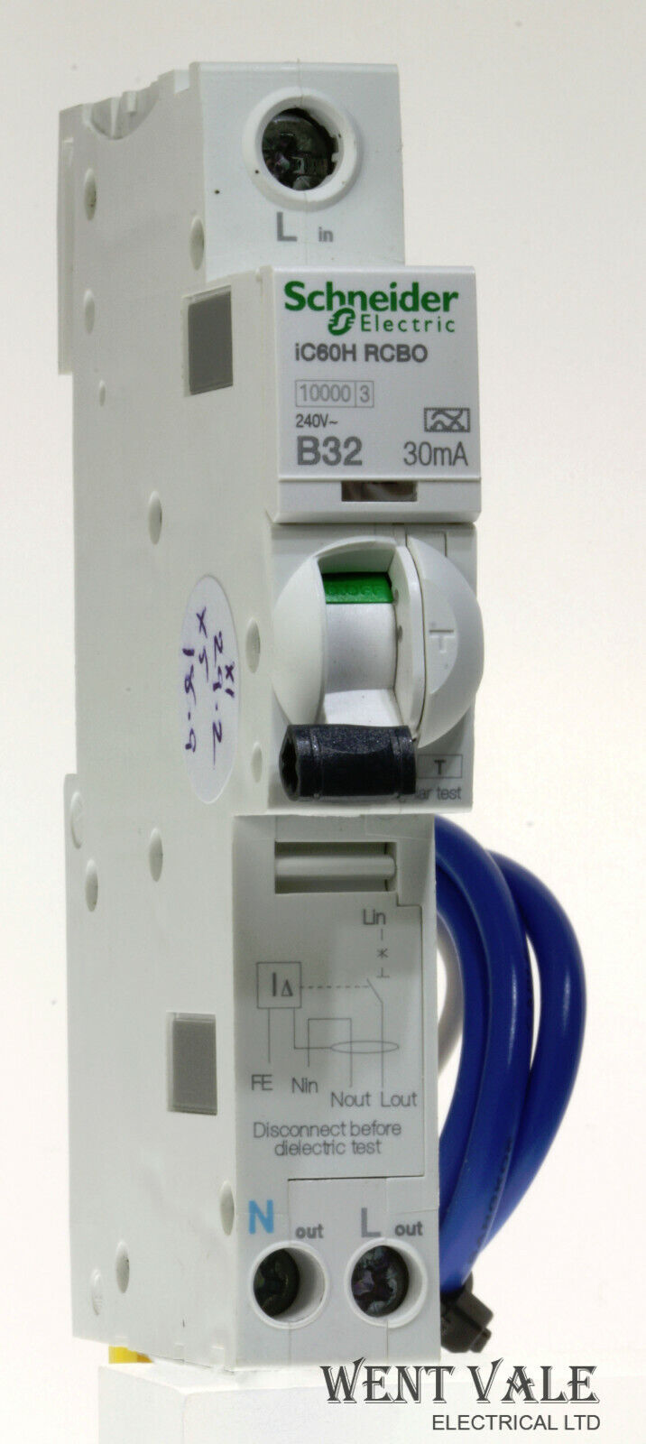 Schneider Acti 9 - iC60HB32R30-A9D31832 - 32a 30mA Type B Single Pole RCBO Used