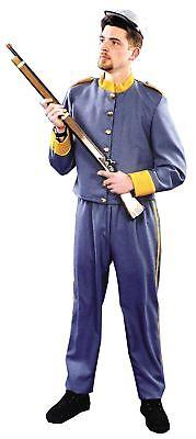 Konföderierte Soldaten Uniform Erwachsene Herren-Kostüm Bürgerkrieg - Herren Bürgerkrieg Kostüme