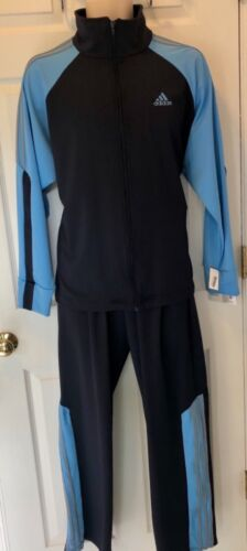 NWT ORIG $329.98! ADIDAS NAVY BLUE DRY TECH WARM UP/TRAINING SUIT SIZE ADULT M