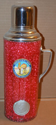 1950s Camel Brand Vacuum Flask Wei Yit Co HONG KONG English/Chinese Label NICE