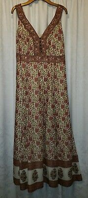 ORANGE EAST VINTAGE BOHO INDIAN BLOCK PRINT DRESS 10