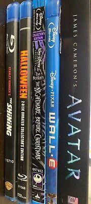 Blu-Ray Lot of 5 Wall E Avatar Nightmare Before Christmas Shining Halloween - Halloween Avatars