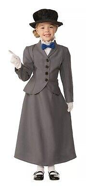 Children's Mary Poppins Halloween Costume (English Nanny Mary Poppins Child Costume Halloween Complete NEW)