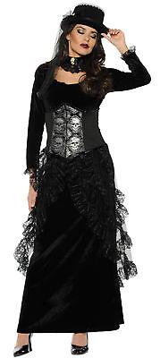 Dark Mistress Adult Women's Costume Gothic Skull Fancy Dress Underwraps