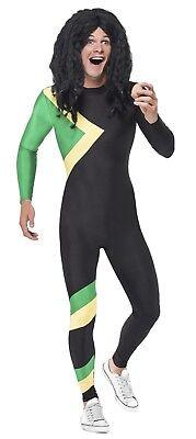 Unisex Jamaican Hero Fancy Dress Costume Cool Runnings Luck Egg Bob Sled Team