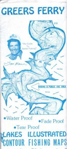 c1980 Greers Ferry Lake Contour Fishing Maps Brochure