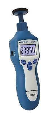 PeakTech 2795 Drehzahlmessgerät Digital Laser Umdrehung Drehzahl UPM RPM Profi