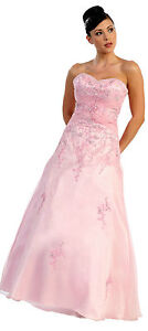 Long-Strapless-Bridesmaid-Prom-Party-Dress-Satin-Formal-Evening-Gown-S-M-L-XL