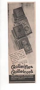 Pubblicita-vintage-1935-REFLEX-ROLLEIFLEX-CAMERA-FOTO-advert-werbung-publicite