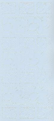 Zier-Sticker-Bogen-Babymotive-Schnuller-Briefmarke-hellblau-3201hbl