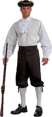 Men's White Ruffled Shirt Colonial Pirate Vampire Shirt Adult Size Standard](Frilly Pirate Shirt)