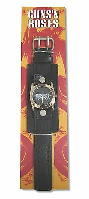 Guns N Roses Black Leather Wrist Watch New Sale NIB Official GnR NOS