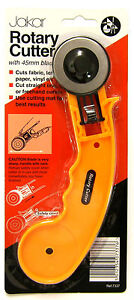 Jakar-Rotary-Cutter-45mm-Cuts-Fabric-Leather-Paper-Vinyl-Rotary-Cutter-Round-New