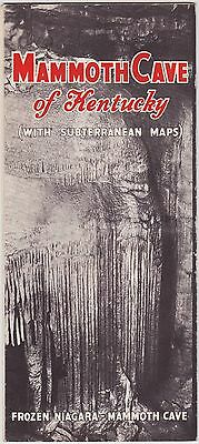 1940's Mammoth Cave Of Kentucy Subterranean Maps Brochure