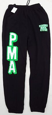 (URBAN OUTFITTERS cotton blend PLEASURES MENTAL ATTITUDE black SWEATPANTS size S)