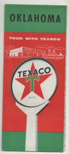 Texaco Road Map For Oklahoma 1959