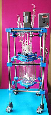 10lglass Jacket Reactor10000mlreaction Vesselchemistry Glassware