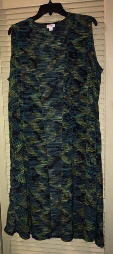 NWOT LuLaRoe Joy Sleeveless Duster Cover-Up Size L Black, Gr