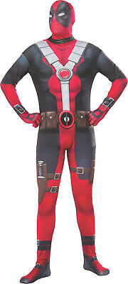 Deadpool Adult Costume Skin Suit Unitard 2nd Skin Superhero Size XLarge