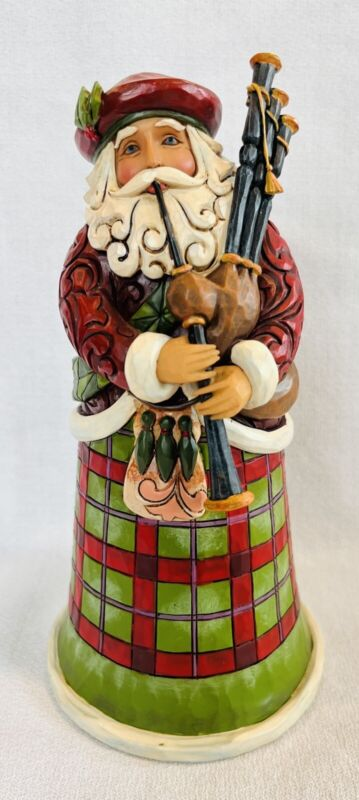 Enesco 4018857 Jim Shore Heartwood Creek Scottish Santa Figurine 6.75 In