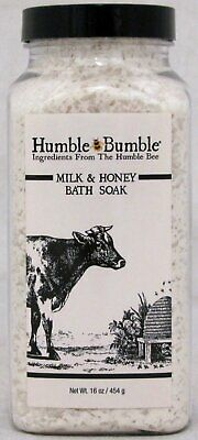 Humble Bumble Goats Milk and Honey Bee Bath Soak Salts USA Made 16 OZ Jar NEW Goat Milk Bath Salts